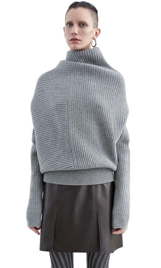 Acne Studios Jacy rib grey melange Ribbed sweater | femme fatal ...