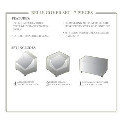 Sol 72 Outdoor Fernando 7 Piece Patio Furniture Cover Set Patio