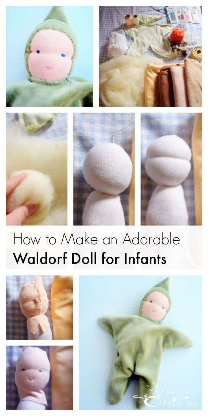 Make a Waldorf Doll for Infants #toydoll