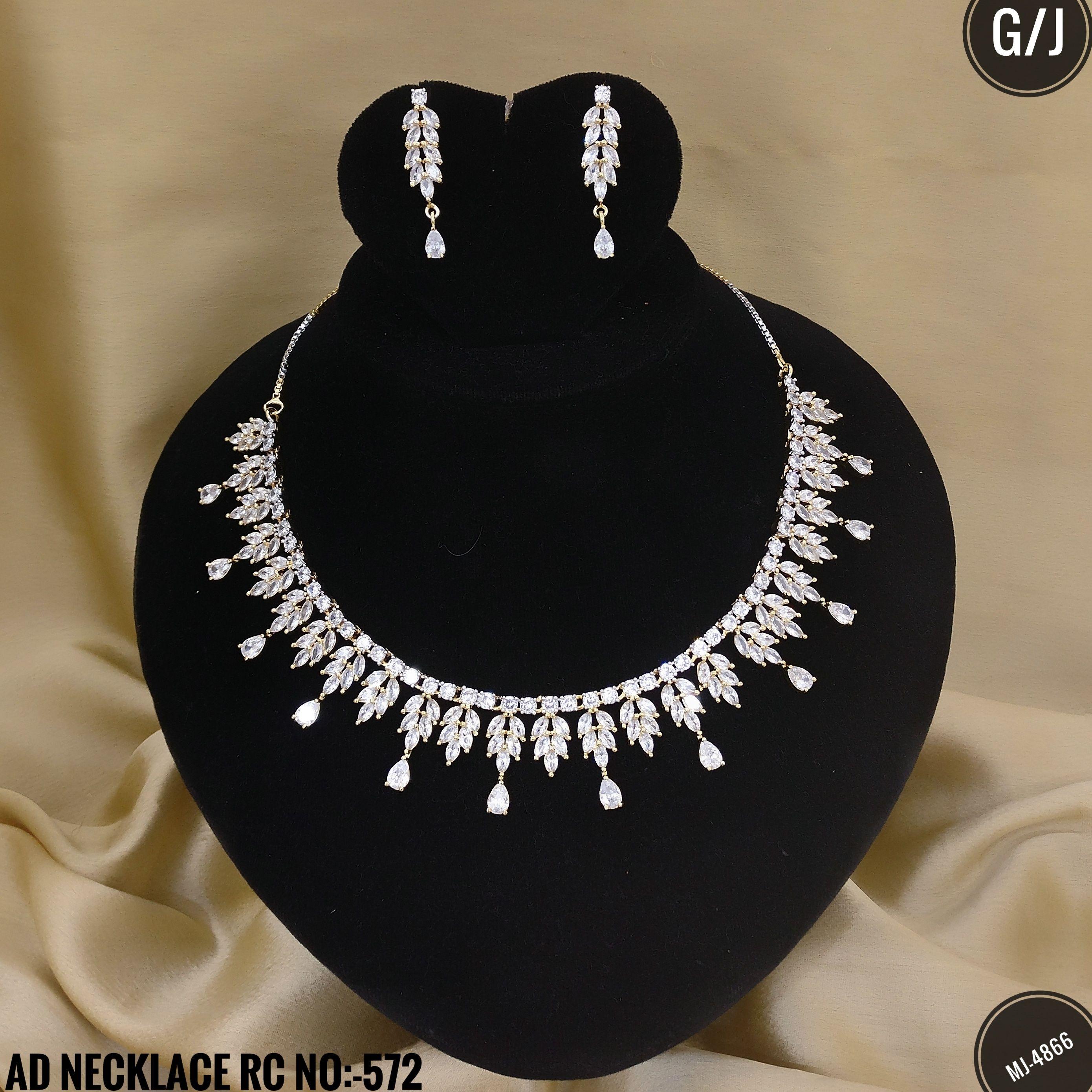 American Diamond Party wear Necklace Set. Rama Creations