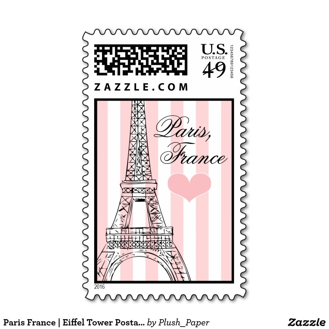 Paris France   Eiffel Tower Postage Stamps   Paris Birthday ...