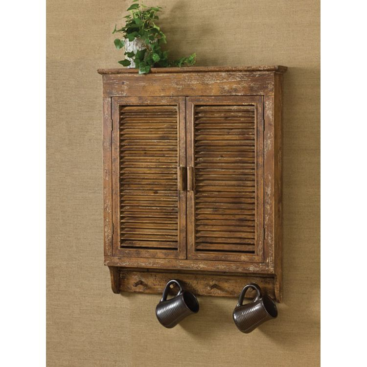 Great U003cpu003e Beautiful Distressed Accent Shutter Wall Cabinet Piece. Perfect  Addition To Bathroom,