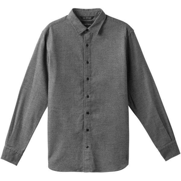 Flannel Officer Shirt wings+horns (295 CAD) via Polyvore featuring tops, shirt tops, flannel shirts and flannel top