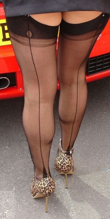 The Line Up The Back Classic Stockings Tights And