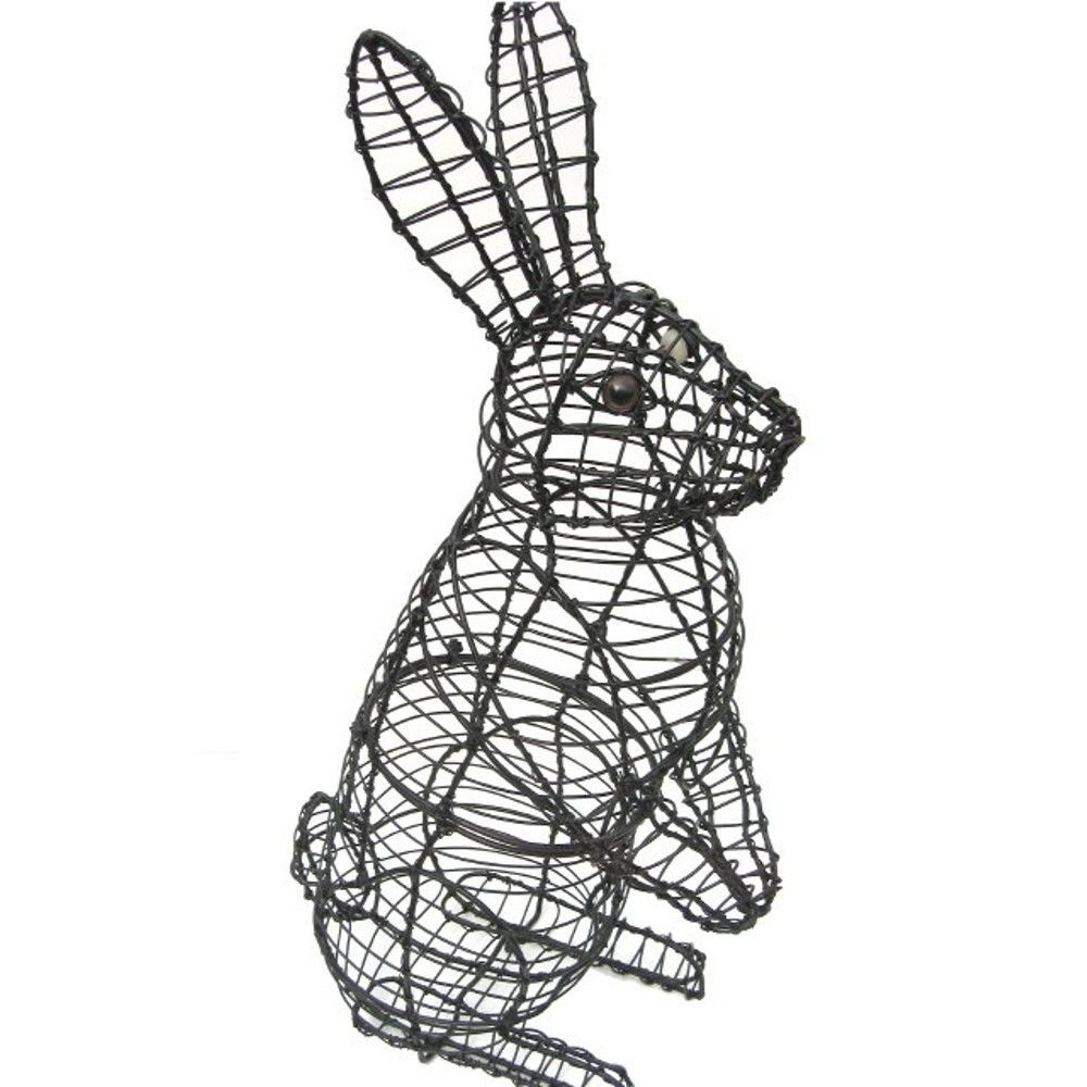 Grow your own Easter bunny with a topiary frame. The standing rabbit ...