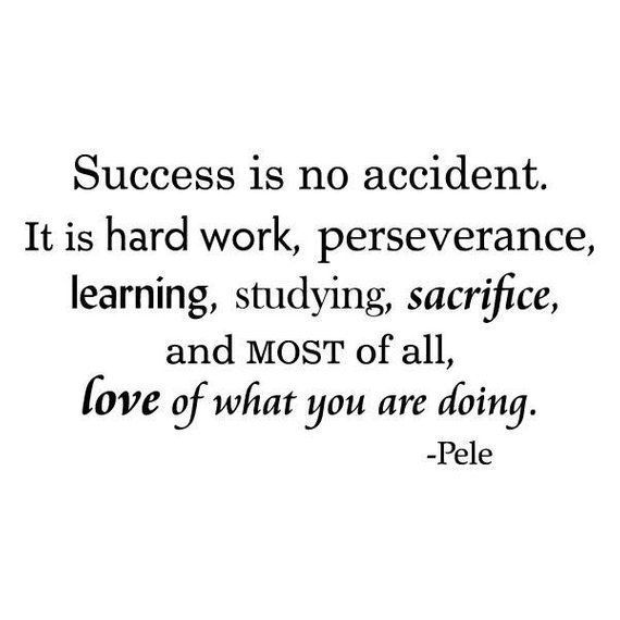 Success Is No Accident, Wall Quotes Vinyl Decal, Pele Quote, Soccer Quote, Soccer Decor, Sports Decor, Gym Decor, Love What You Do