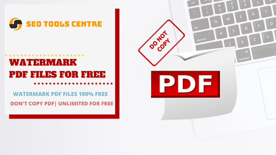 Add Watermark To Pdf 100 Free Unlimited In 2020 Free Seo Tools Watermark Free Online Tools