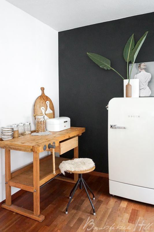 Alte Werkbank & neue Farbe in der Küche