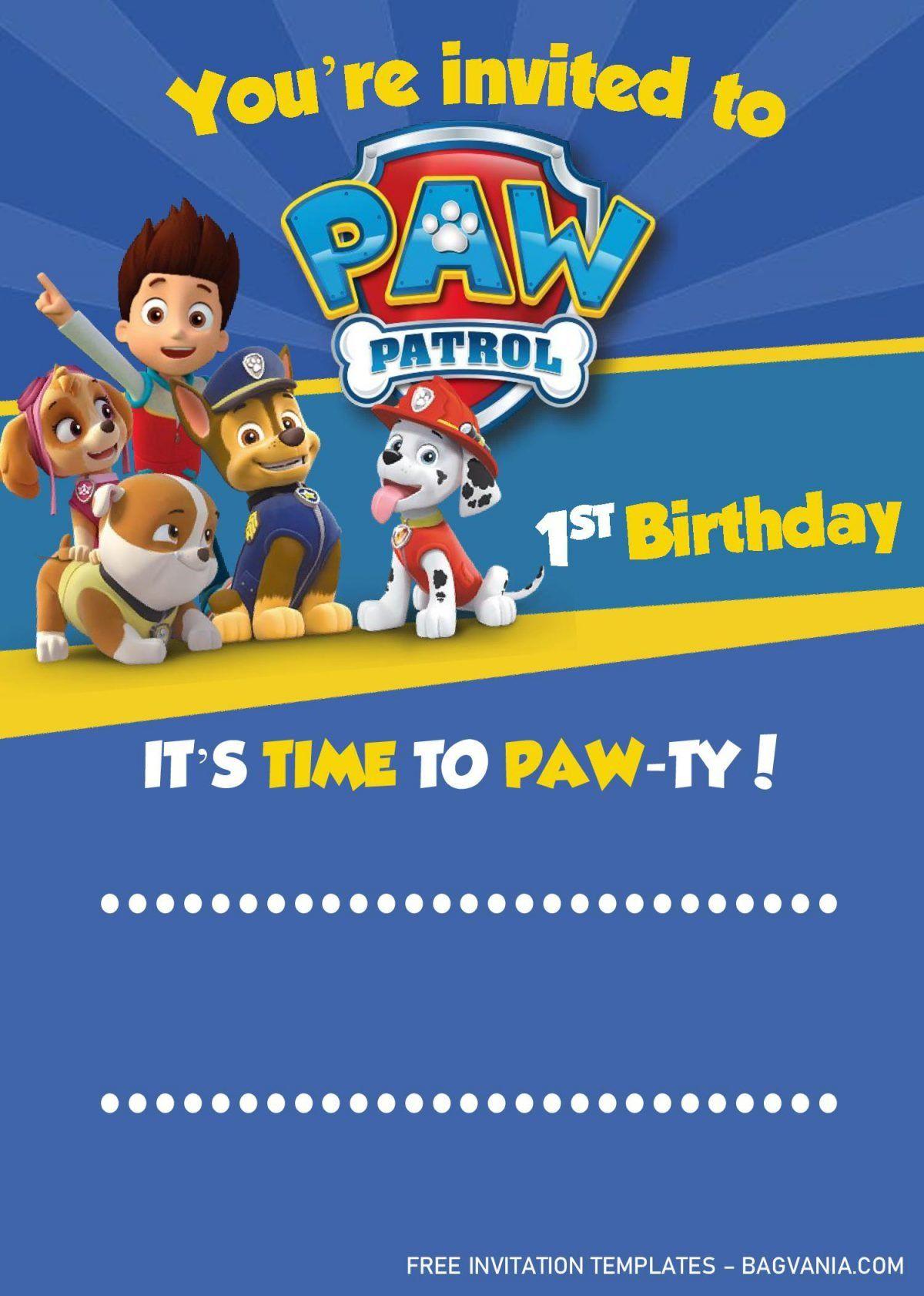 Paw Patrol Invitation Templates Editable With Ms Word Free Printable Birthday In Paw Patrol Invitations Paw Patrol Birthday Invitations Paw Patrol Birthday [ 1682 x 1200 Pixel ]
