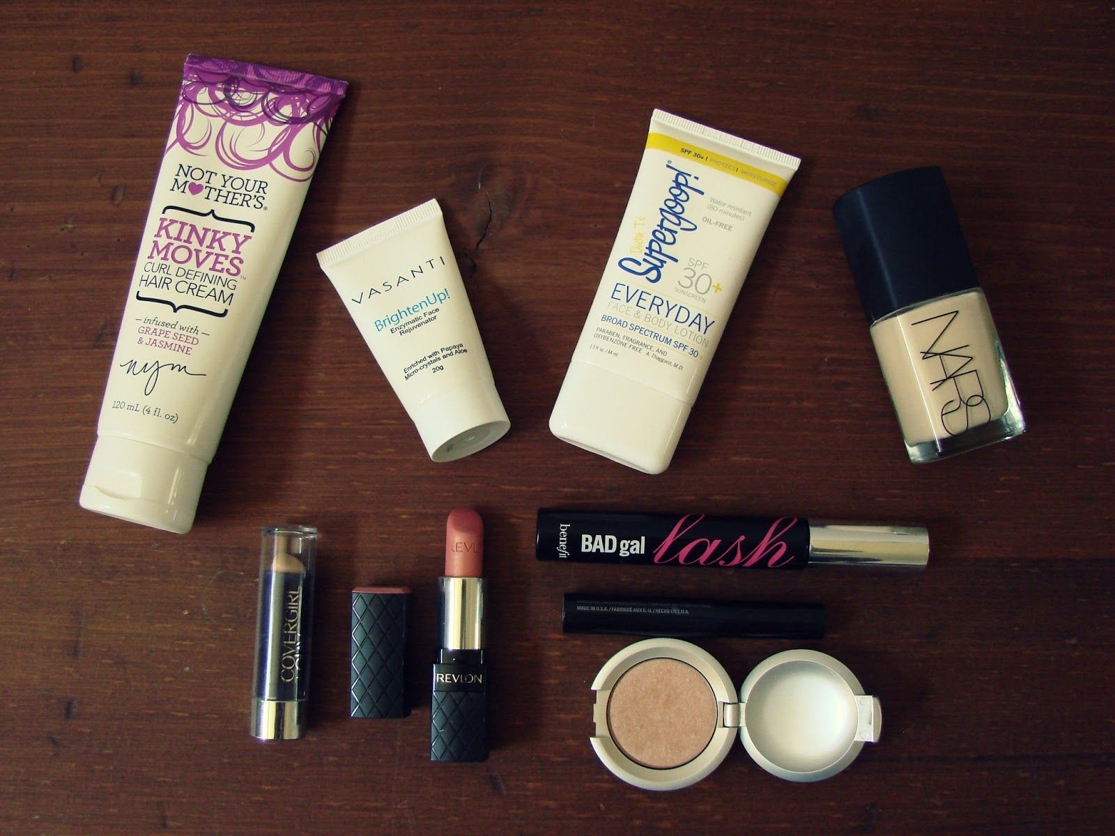 Rebecca Lately: May Favorites / not your mother's / vivante / supergoop@ / nars / CoverGirl / Revlon / Benefit / LORAC / Mary Kay