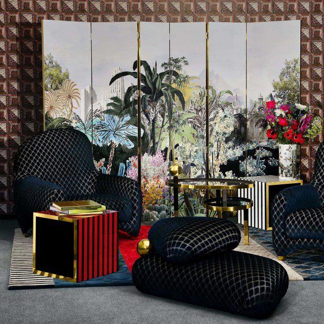 Christian lacroix maison x roche bobois une collaboration tropicale chic élégante