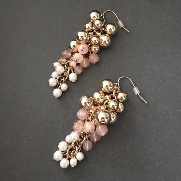 Beautiful Blush Drop Earrings 2 Available With Golden Pink And