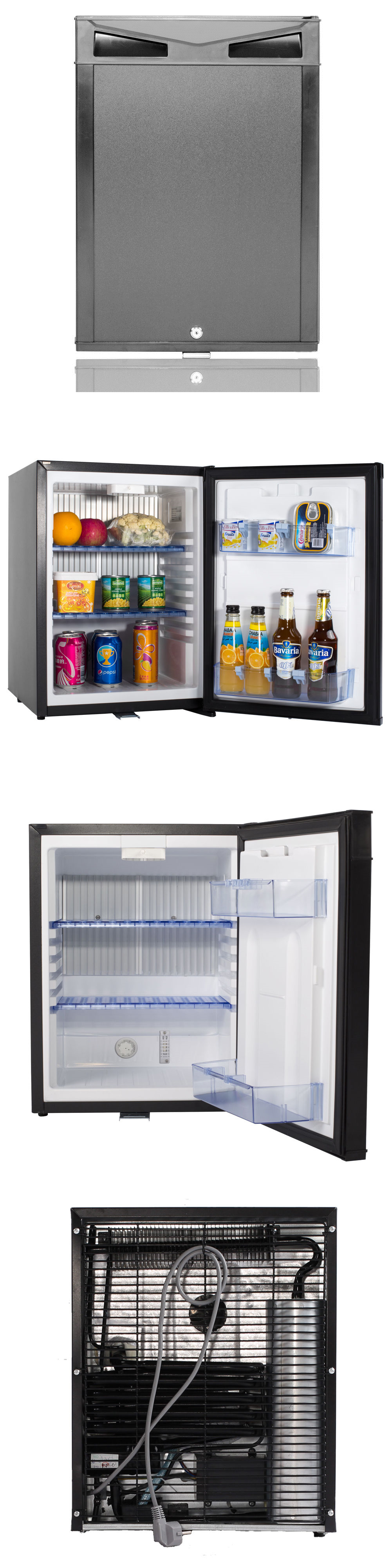 mini fridges 71262 40l 12v 110v mini refrigerator with lock hotel