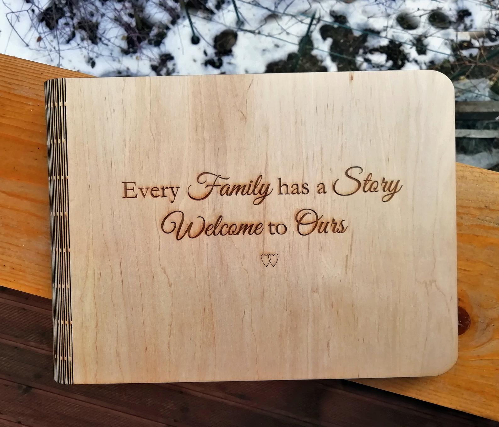 PERSONALISE YOUR WOODEN SCRAPBOOK PHOTO BOOK //MEMORIES birthday album wedding