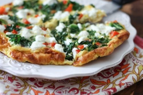 Kale, Red Pepper, and Goat Cheese Frittata