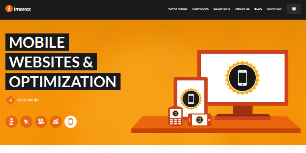 flat ui design inspiration for business site