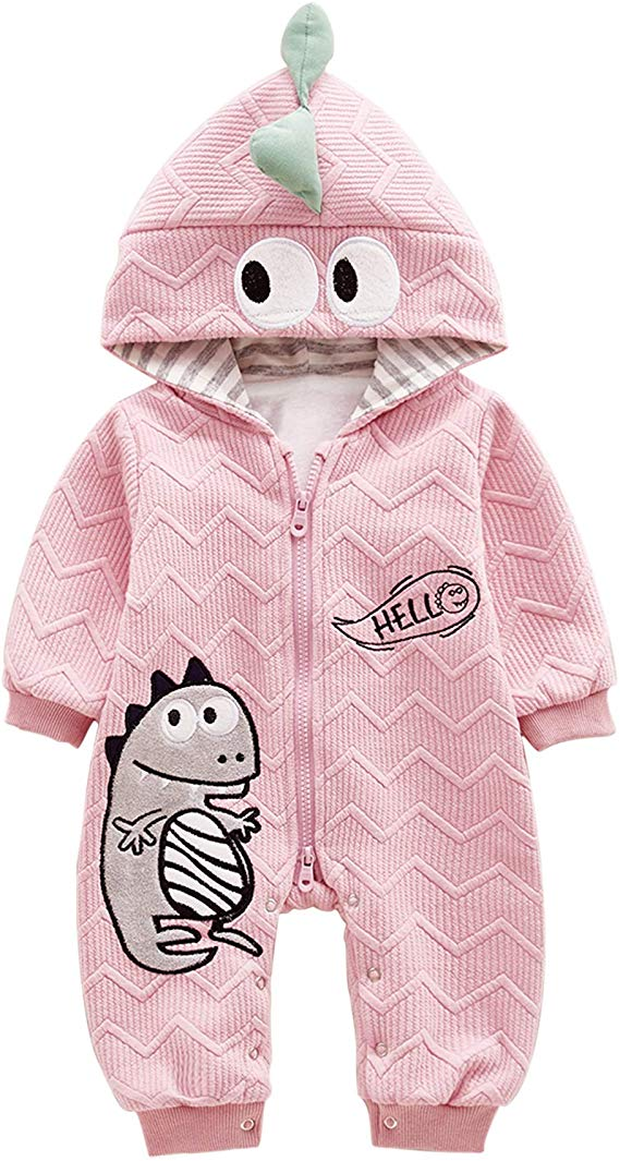 Lolary Baby Clothes Cute Infant Cotton Bodysuit Dinosaur Pattern Autumn Winter Baby Clothing Baby Clothes Design 100 Cotton Winter Baby Clothes Trendy Baby Clothes Dinosaur Pattern