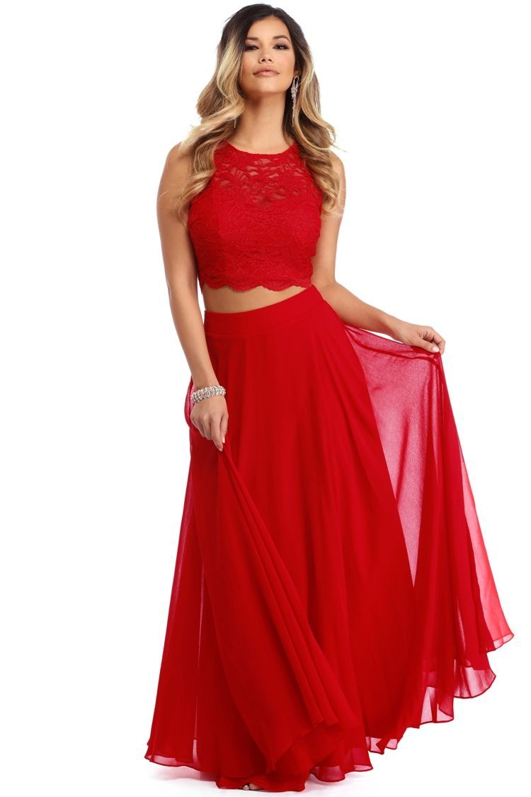 Danelle red vibes two piece
