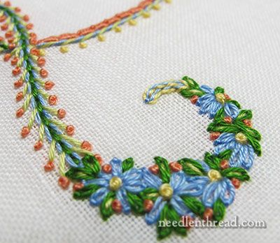 Mix and Match Embroidered Floral Monograms from the fabulous Mary Corbet