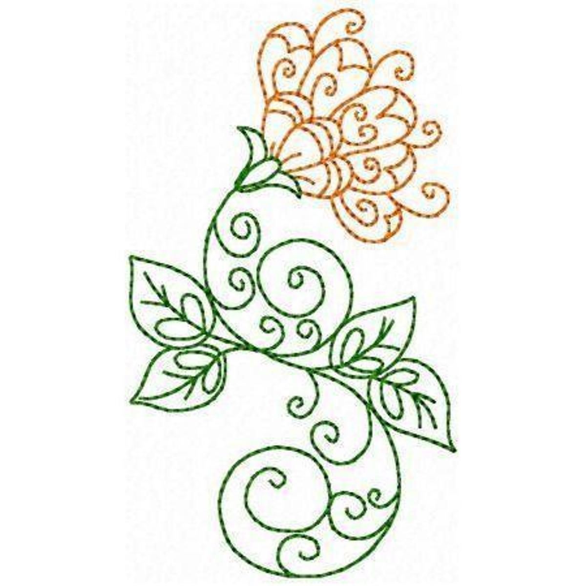 Elegant flowers embroidery pattern art pinterest embroidery