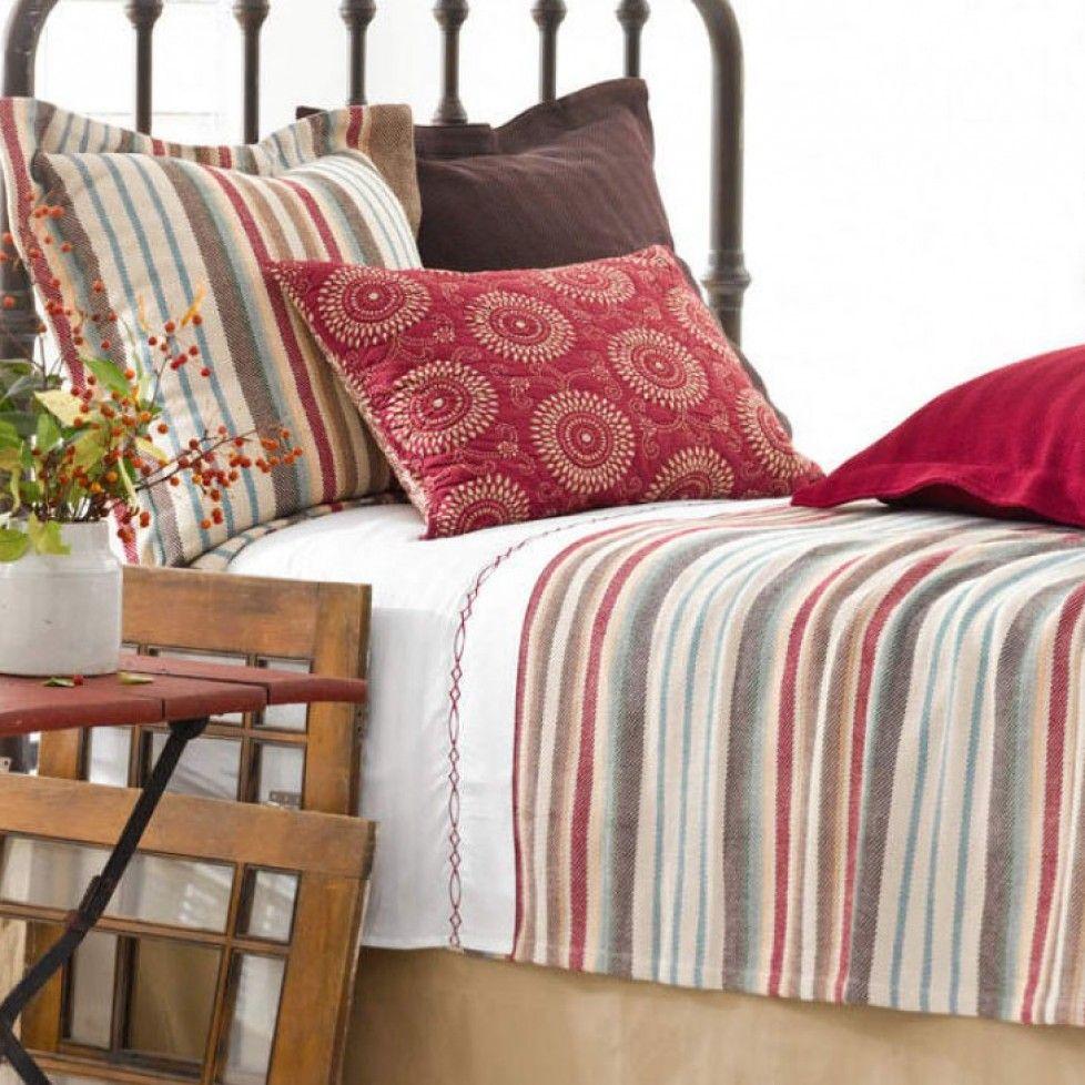 Ranch Stripe Bedding Set