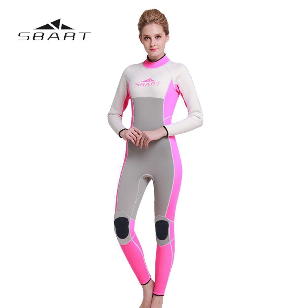 717af02fcd NEW SBART Women Scuba Diving Wetsuit One Pieces Suit Surfing Snorkeling  Swimwear Spearfishing Full Body Jumpsuit 3mm Neoprene