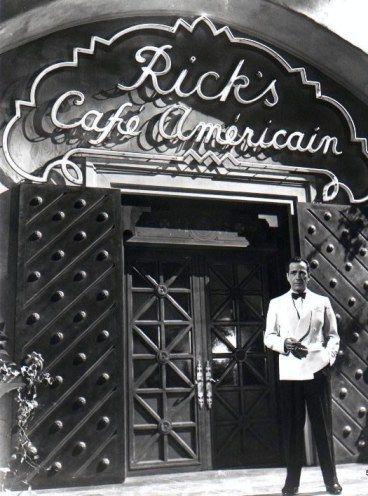 Rick's Bar from Casablanca, Humphrey Bogart. Warner Bros backlot   Humphrey  bogart, Good movies, Old movies