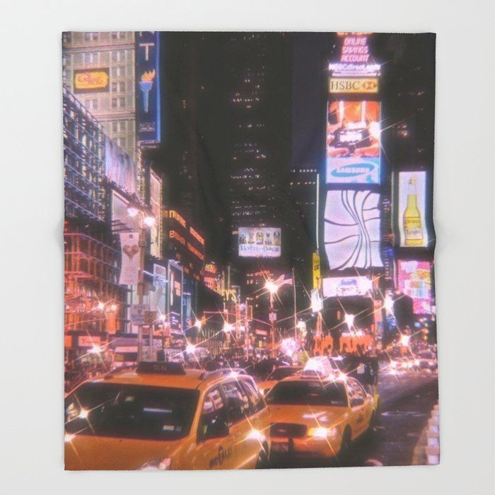 Times Square New York City Throw Blanket by Idkbrb - 51