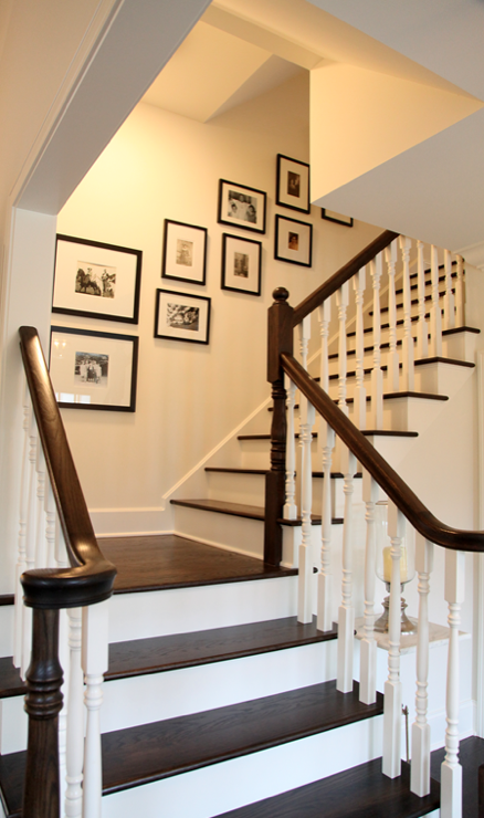 Entrance with portraits. Could also be great along basement stairs ...