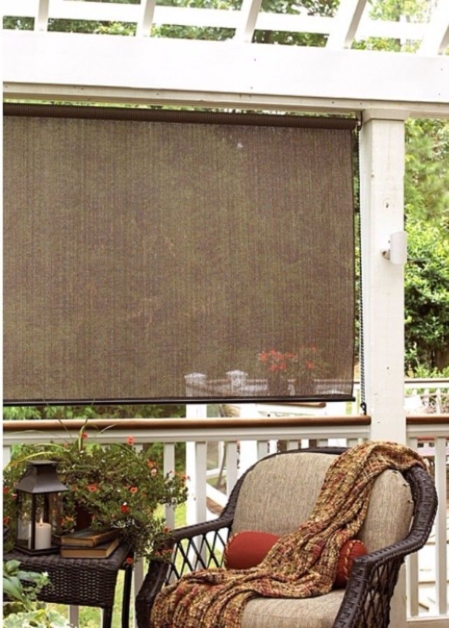 Outdoor Window Patio Sun Shade Indoor Bamboo Roller Porch Roll Up Blinds  New | Porch, Patios And Window