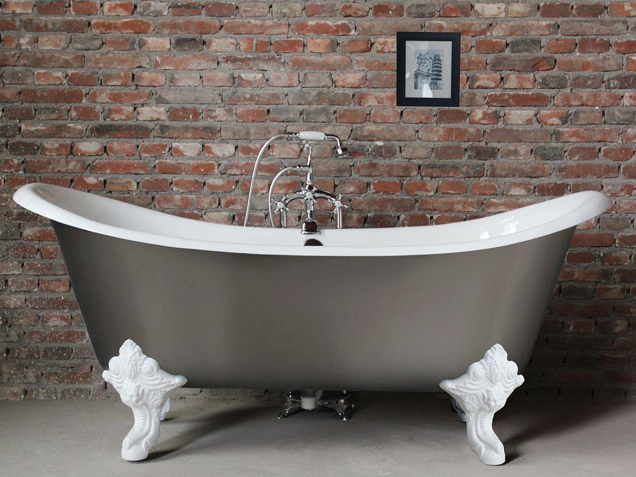 Vasca lucrezia 186x77 bianco grigio iperceramica vasche da bagno pinterest - Vasca da bagno grigia ...