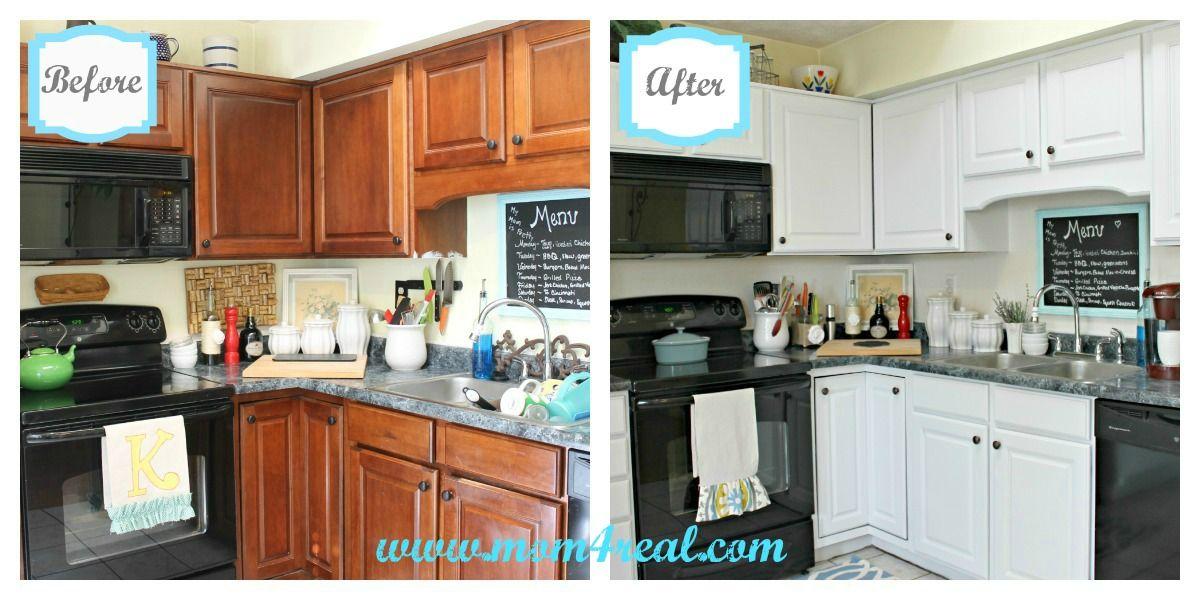 White Kitchen Reveal A Before After Open Cabinetspainted