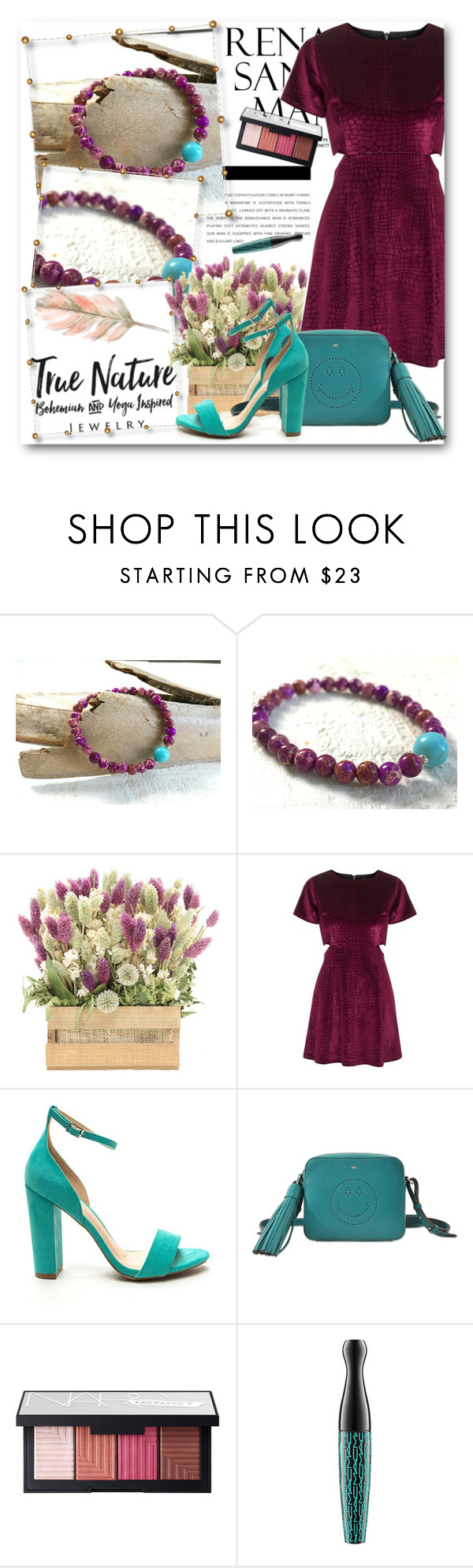 """True Nature Jewelry 2"" by fashionmonsters ❤ liked on Polyvore featuring Topshop, Anya Hindmarch, NARS Cosmetics and MAC Cosmetics"