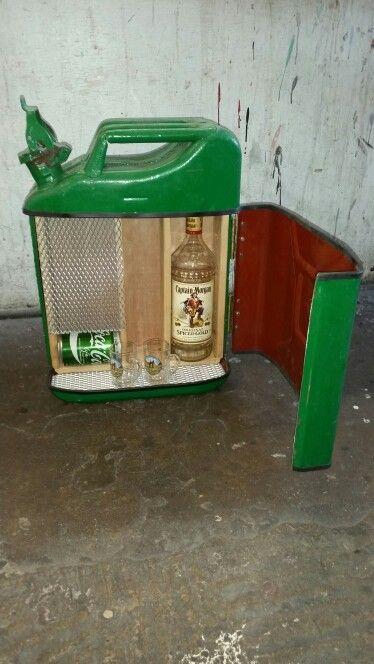 Jerry can drinks cabinet   Bandasky   Pinterest   Drinks cabinet ...