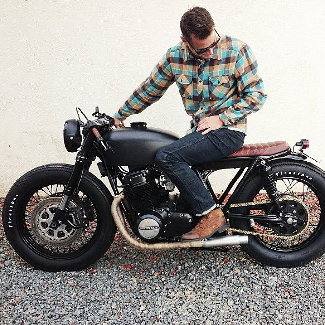 cb 125 honda black cafe racer cafe racer pinterest. Black Bedroom Furniture Sets. Home Design Ideas