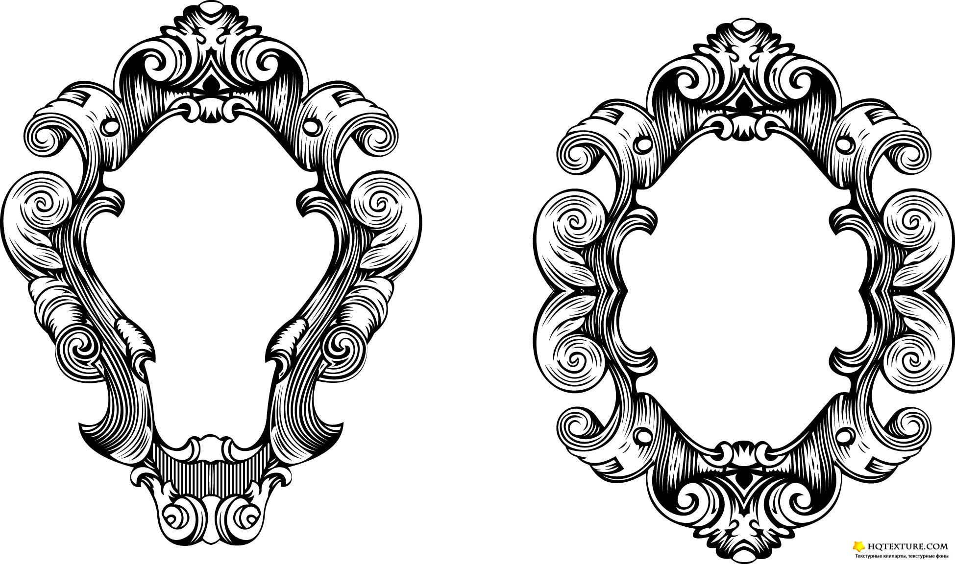 Vector Oval Ornate Frames | Ornate frame - Stock Vectors ...