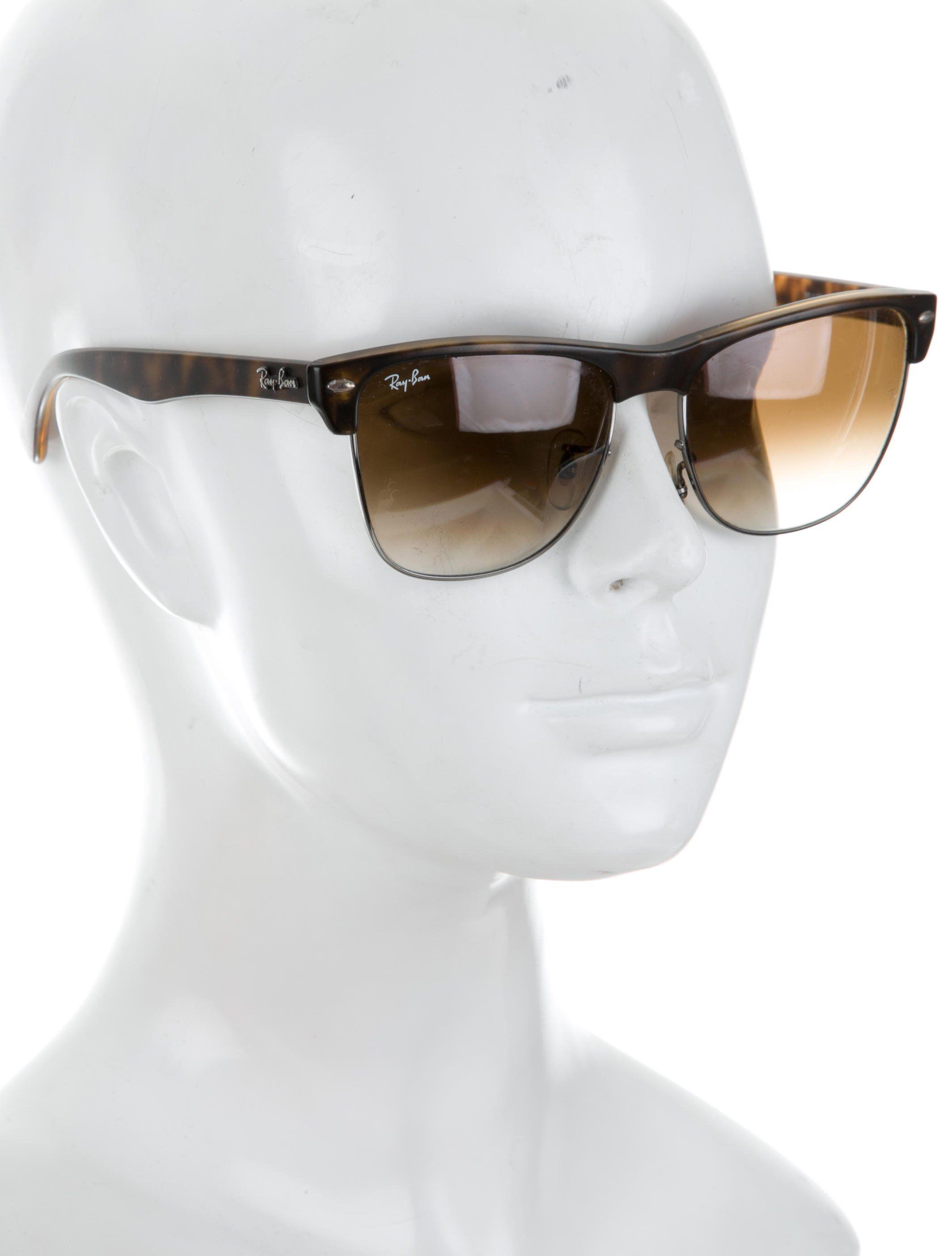 b4c3355b14 Men s tortoiseshell acetate Ray-Ban polarized wayfarer sunglasses with  square gradient lenses