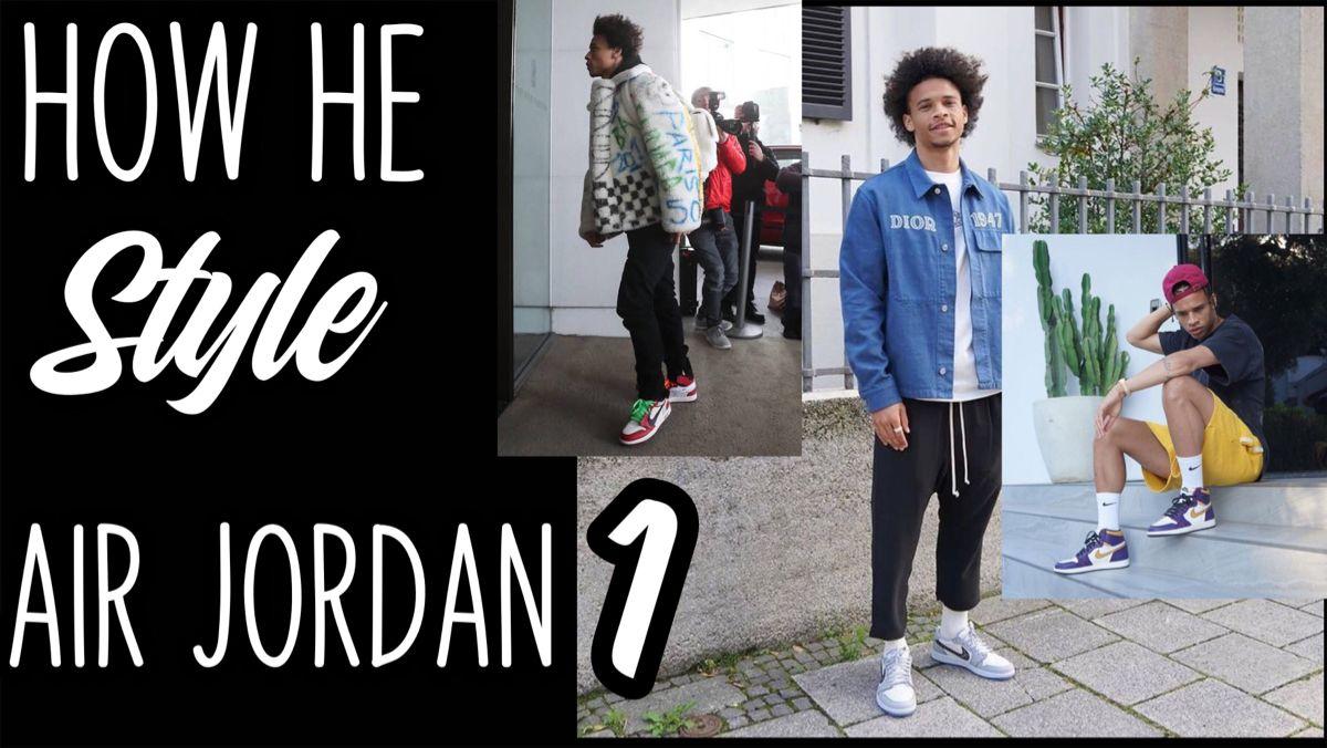 New Video Leroy Sane On Air Jordan 1 Sneakers Youtube Air Jordans Jordan 1 Jordans