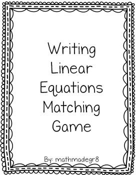 solving word problems with linear equations