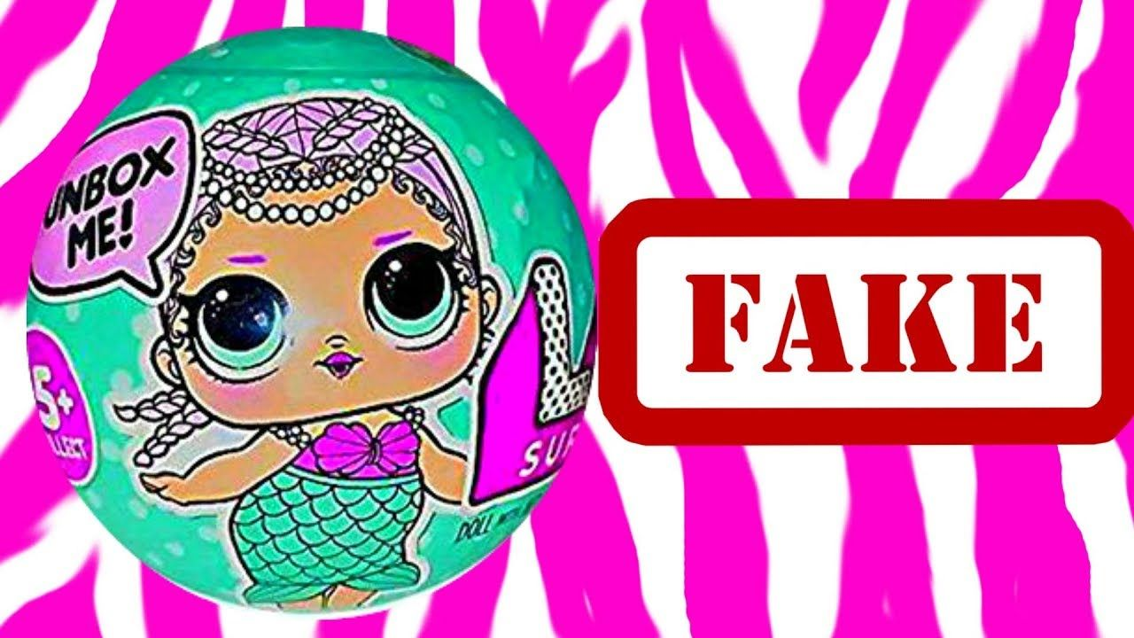 Fake LOL Surprise Dolls Video FAKE LQL Surprise BALL Opening