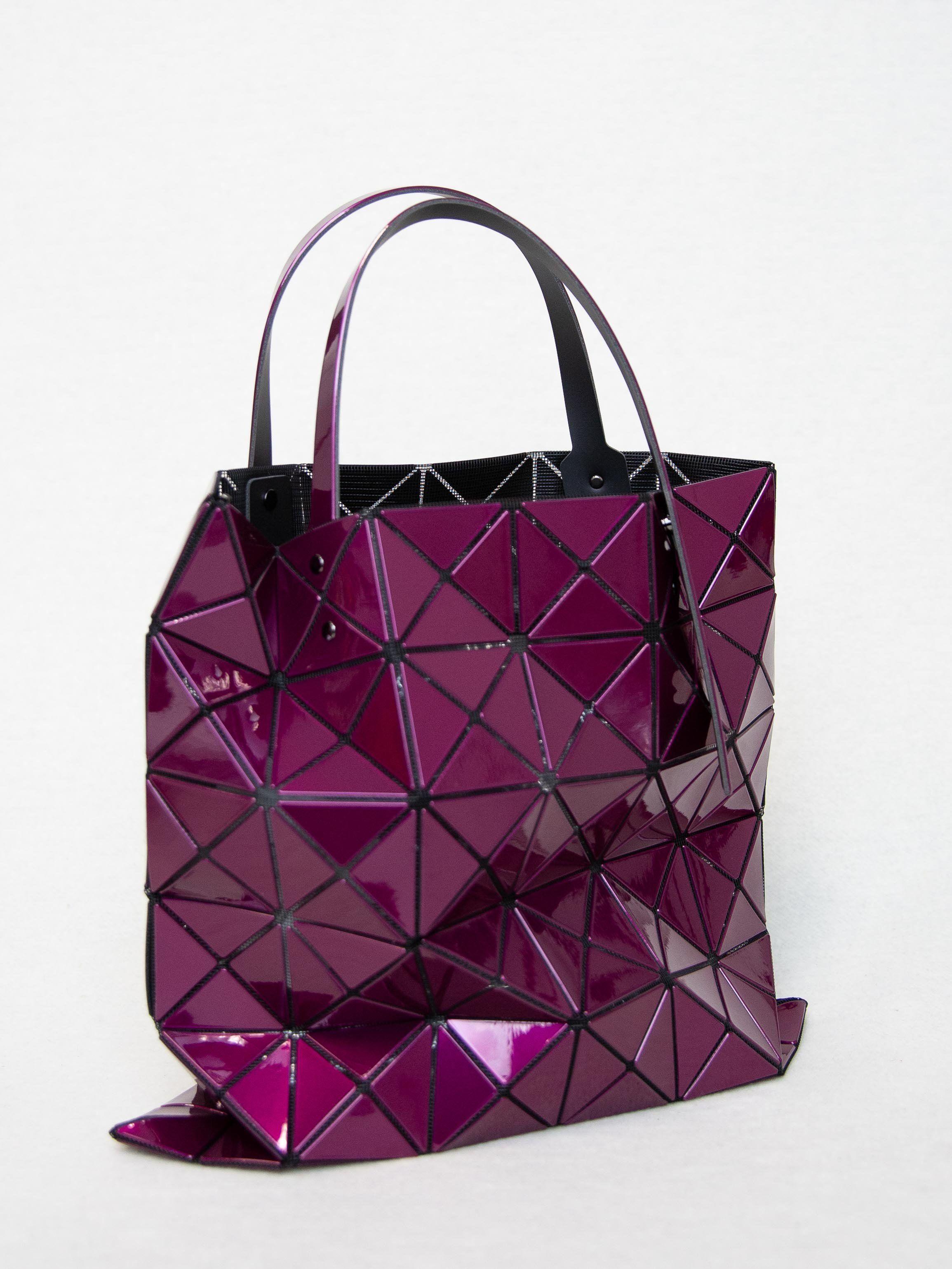 5740008d516a BAO BAO ISSEY MIYAKE Lucent Metallic Tote Bag - Bordeaux