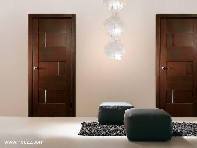 Modernas puertas de madera puertas pinterest puertas for Disenos de puertas de madera para interiores