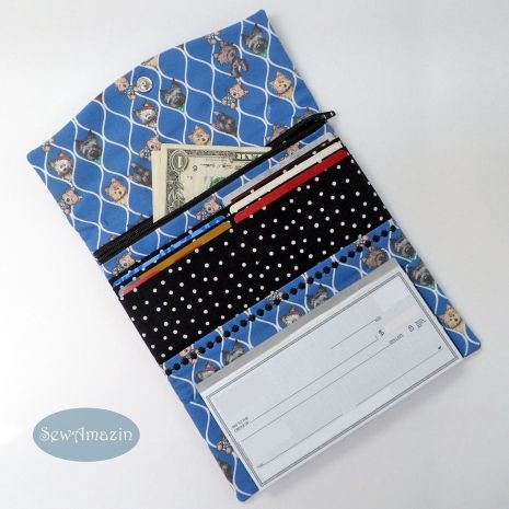 Cairn Terriers Tri-fold Wallet, holds checkbook, cards, money | SewAmazin
