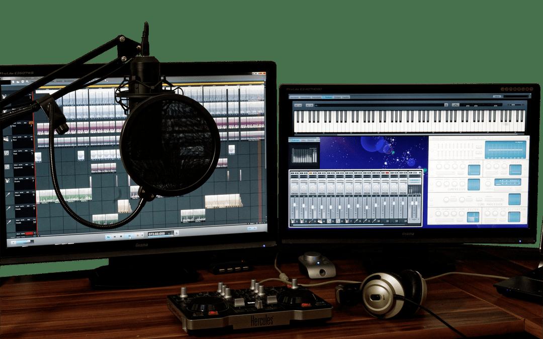 Audio for online courses Recording studio microphone