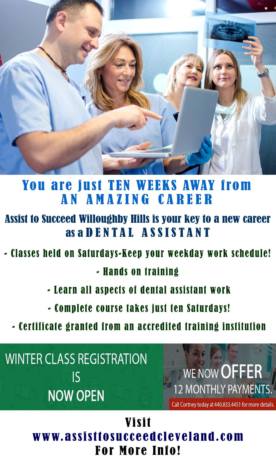 Dental Assisting Program Conducted By Assist To Succeed Willoughby