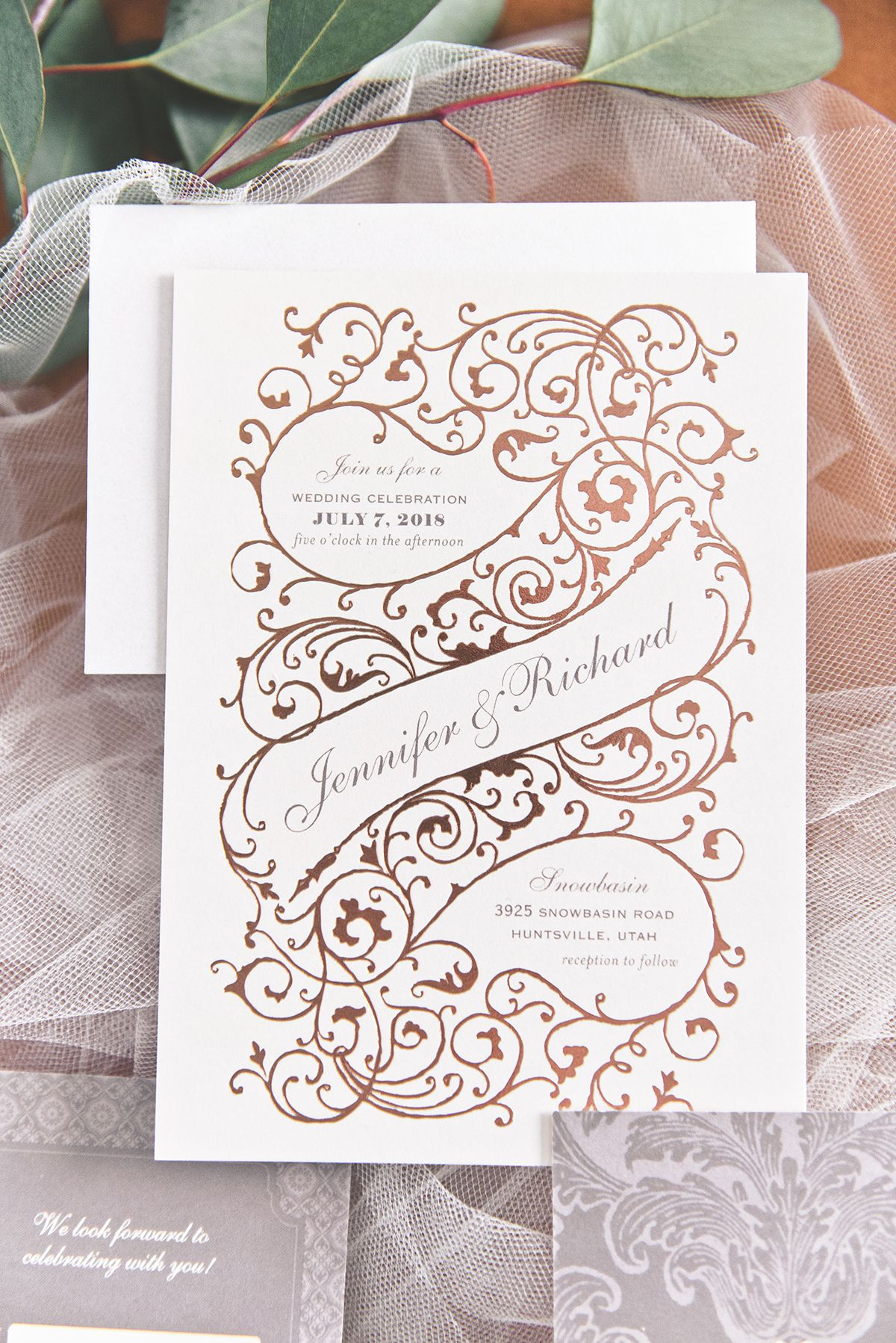 Dreamy Wedding Invitations From Wedding Paper Divas Glamour Grace Dreamy Wedding Invitations Wedding Paper Divas Wedding Invitations