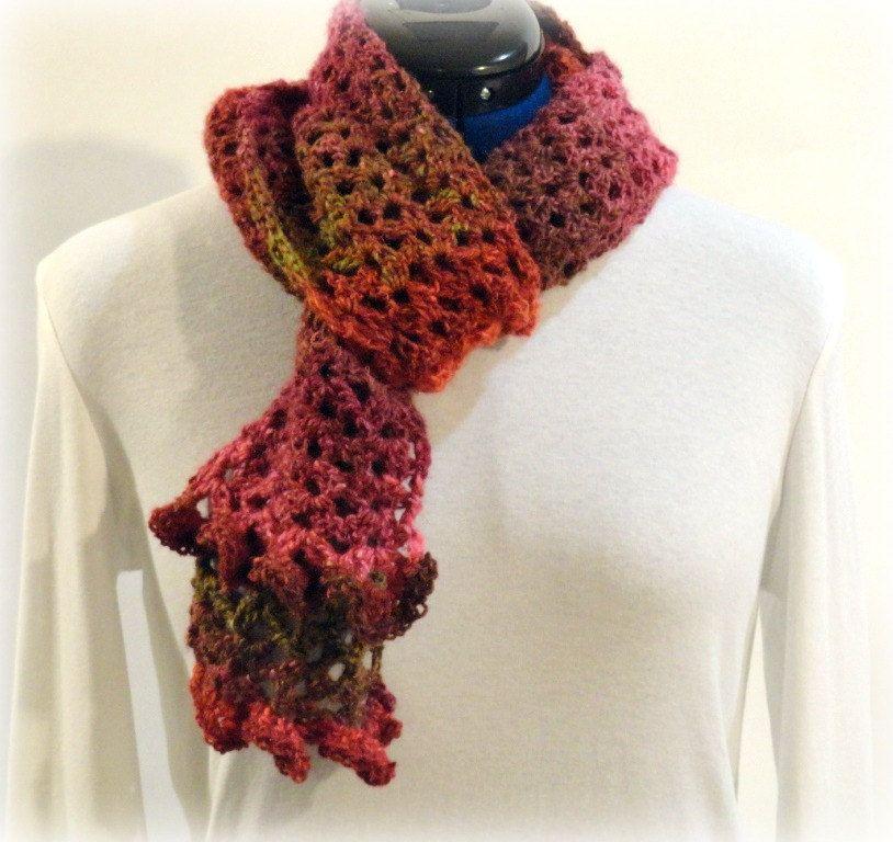 Free Printable Ruffle Scarf Crochet Pattern Crochet Pattern