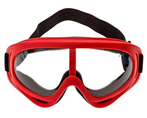 Foam Gun and Blaster Face Mask / Goggles / Eye Shield (1 Red Mask) -  Perfect for Nerf Gun and Blaster Play (Rival, N-Strike, Mega, etc.