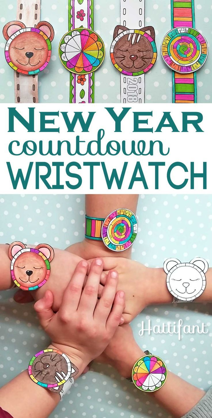 NEW YEAR | Countdown Wristwatch Papercraft - Hattifant