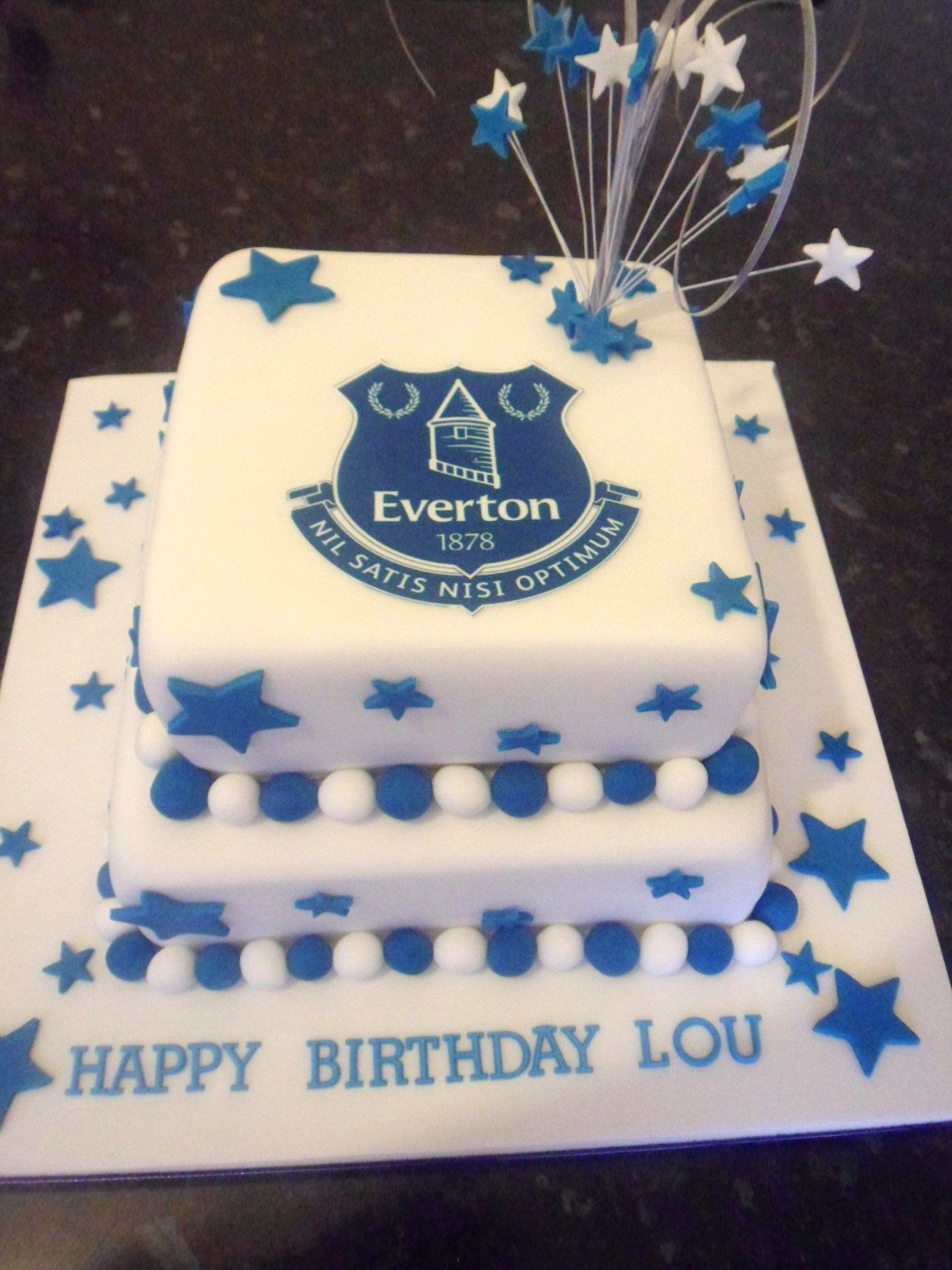 This was for a lady who is a huge Everton fan Its suitable for